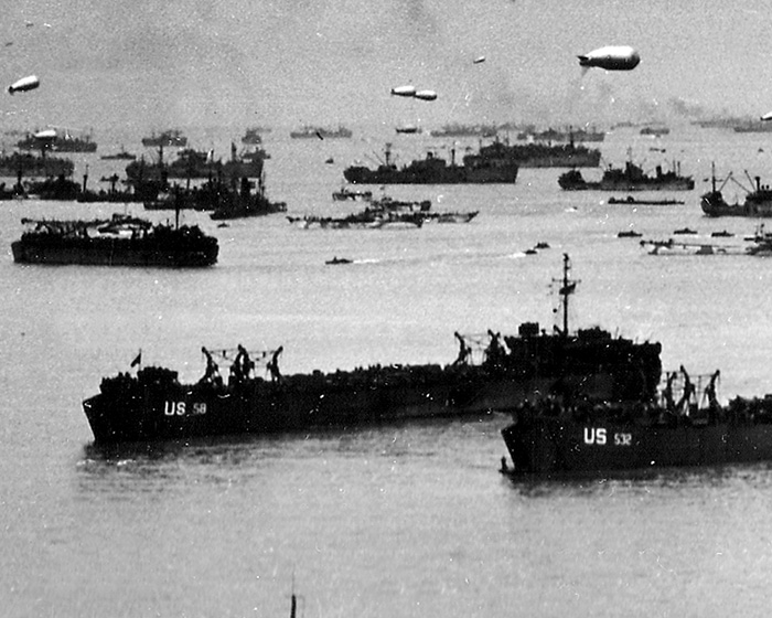 LST 58 during Normandy landings 1944